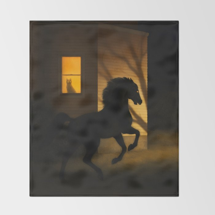 Shadows in the Suburb Throw Blanket
