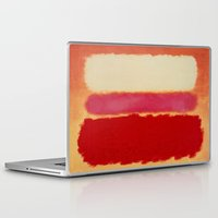 rothko Laptop & iPad Skins featuring ROTHKO-WHITE CLOUD OVER RED by things collectable plus