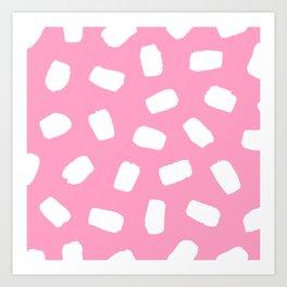 Candyfloss Brushstrokes Art Print