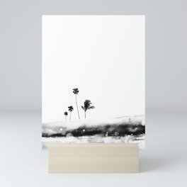 Palm 04 (Black) Mini Art Print