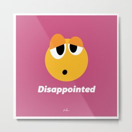 Disappointed. Emotions, Frattini. Metal Print
