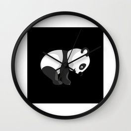 Panda Bear Gift Idea Design Motif Wall Clock