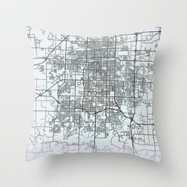 Springfield MO USA White City Map Throw Pillow