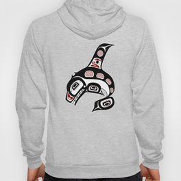 Northwest Pacific coast Haida art Killer whale Hoody
