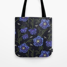 Midnight Hellebore Tote Bag