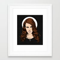 lana Framed Art Prints featuring LANA. by paintparamore