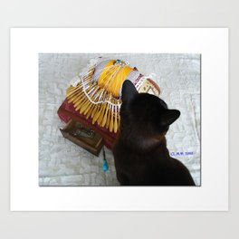 Annabelle et le carreau à dentelle Art Print