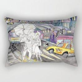 Kissing in New York City Rectangular Pillow