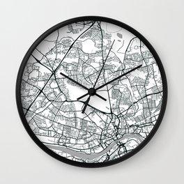Newcastle Upon Tyne, United Kingdom - City Map Wall Clock