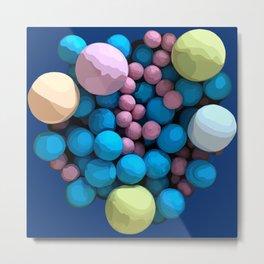 Colorful multiverses on blue Metal Print
