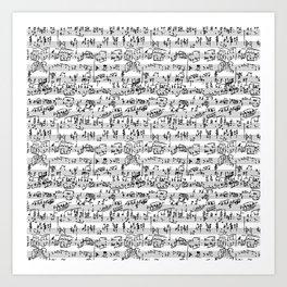 Hand Written Sheet Music Art Print