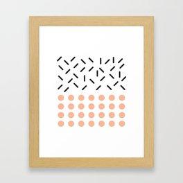 Punto y Linea Framed Art Print