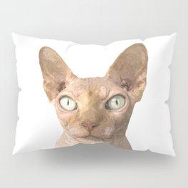 Sphynx cat portrait Pillow Sham