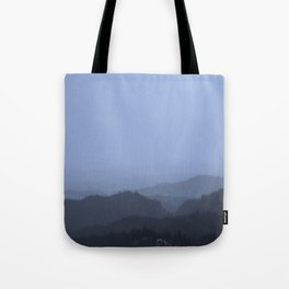 Mountains (Cyan Tone) Tote Bag