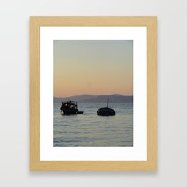 Silhouetted by the Sea Framed Art Print