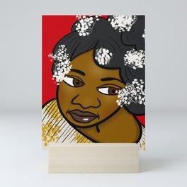Pretty With White Flowers Mini Art Print