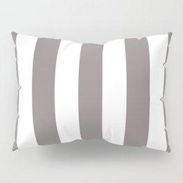 Rocket metallic grey - solid color - white vertical lines pattern Pillow Sham