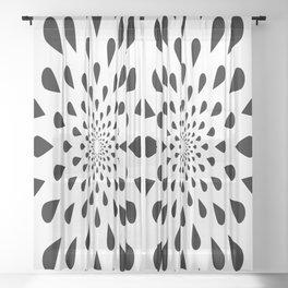 Trance Teardrops Sheer Curtain