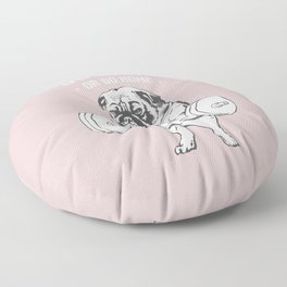 Go Hard or Go Home in Pink Floor Pillow