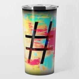 Hashtag art, Hashtag symbol Travel Mug
