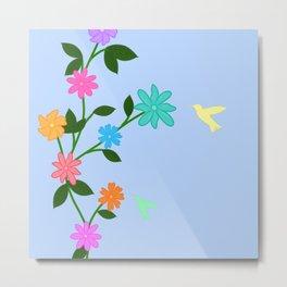 Flowery Day Metal Print
