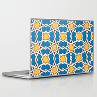 morocco Laptop & iPad Skins featuring Morocco ornament by Galina Khabarova