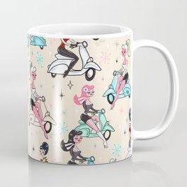 Scooter Girls Pattern Coffee Mug