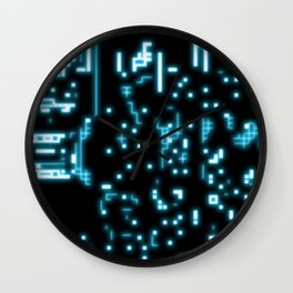 Neon circuits Wall Clock
