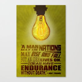 Idea JFK Quote Canvas Print
