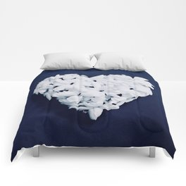Heart on Blue Comforters
