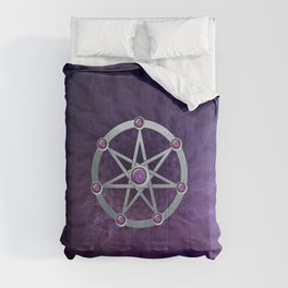 Elven star SIlver embossed with Amethyst Comforters