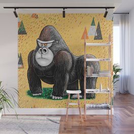 Endangered Rainforest Mountain Gorilla Wall Mural
