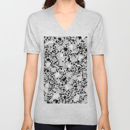 Real Terrazzo Stone Marble Concrete Mix Pattern Unisex V-Neck