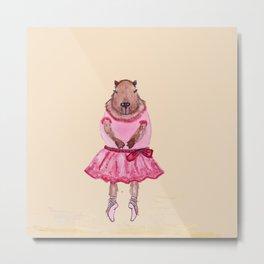 Capybara Ballerina  Metal Print