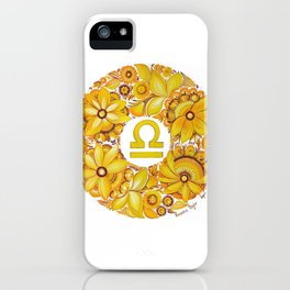 Libra in Petrykivka style (with signature) iPhone Case