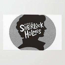 believe in sherlock Rug