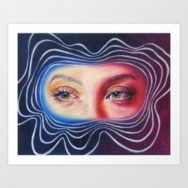 Why won't you look me in my eyes? Art Print