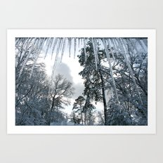 Icicle Dreams Art Print