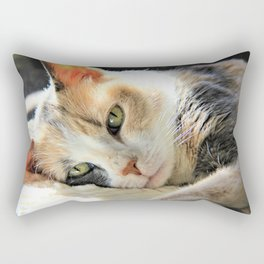Kitty Light by Reay of Light Rectangular Pillow
