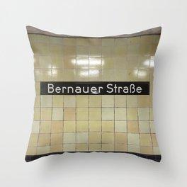 Berlin U-Bahn Memories - Bernauer Straße Throw Pillow