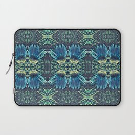 Blue Echinacea, Teal Cone Flowers, Blue Flower Dream Laptop Sleeve