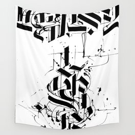 CALLIGRAPHY N°6 ZV Wall Tapestry