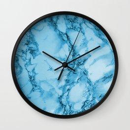 Ocean Blue Marble Pattern Design Wall Clock