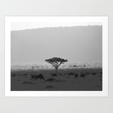 Migration in the Maasai Mara Art Print