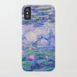 Claude Monet Water Lilies French Impressionist Art iPhone Case