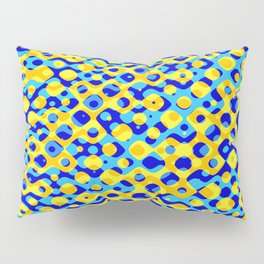 Brain Coral Dark Blue Banded Cross Small Polyps - Coral Reef Series 030 Pillow Sham