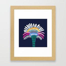 Zelestial Flower Framed Art Print