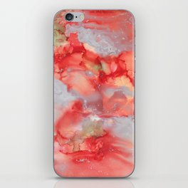 Alcohol Ink 'Big Red' iPhone Skin