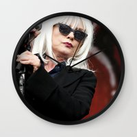 blondie Wall Clocks featuring Blondie by Euan Anderson