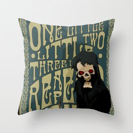 One Little Two Little Three Little Reapers... Throw Pillow